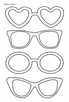 Sunglasses Templates - have staff draw what they did in the lenses and then put them up on or around giant sunshine in lounge.