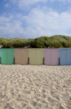 beach cabins, Oostkapelle, Zeeland, The Netherlands