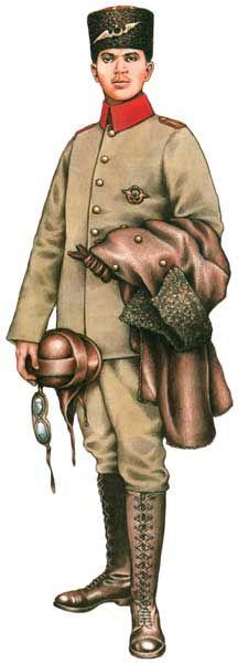 Oficer-obserwator 4. Eskadry Lotnictwa Turcji, południowa Anatolia, w 1917 roku