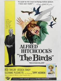 """Vintage Movie Poster- Alfred Hitchcock's """"The Birds"""""""