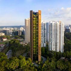 Gallery of EDEN Singapore Apartments / Heatherwick Studio - 11 Residential Architecture, Amazing Architecture, Thomas Heatherwick, Art Design, Interior Design, Earth Tones, Greenery, Illustration, Singapore