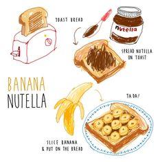 김혜빈 @moreparsley #homemade #banana...Instagram photo | Websta (Webstagram) Cute Food, Yummy Food, Recipe Drawing, Sketch Note, Food Doodles, Food Sketch, Gateaux Cake, Food Painting, Food Journal