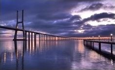 Самый длинный мост Европы: Васко да Гама 17,2 км