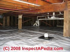 Crawl space dryout and waterproofing retrofit