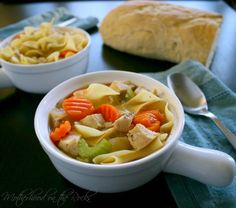 quick and easy chicken noodle soup - perfect for winter!