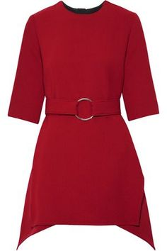 Claret wool-crepe Concealed hook and zip fastening at back wool; Loose Fitting Tops, Loose Tops, Cut Loose, Stella Mccartney Boots, Crepe Top, Evening Tops, Layered Tops, Asymmetrical Tops, Marni