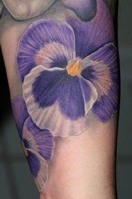Violet tattoo #violet #flowertattoo