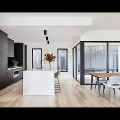 The Secrets of A Respected Art Deco Style Kitchen in the Renovation of the Newcastle House Revealed - homemisuwur Modern Kitchen Design, Interior Design Kitchen, Home Kitchens, Black Kitchens, House Rooms, Home Renovation, Interior Architecture, Kitchen Remodel, Kitchen Reno