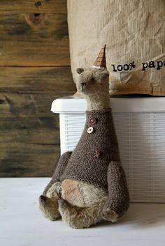 "Little Things www.LittleThingsJenAnt.etsy.com: Teddy Bear ""Christmas Magic"""