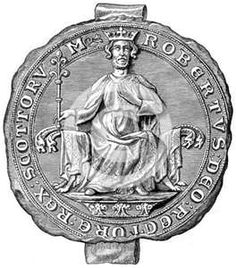 Seal of Robert the Bruce, King of Scotland, 14th century (1892). Robert I ruled Scotland from 1306 until 1329.