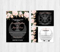 Star Wars Wedding Invitation Set Blush Pink by SweetTeaAndACactus