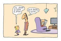 ¿Dónde se siente el amor? Mal Humor, Funny Scenes, Humor Grafico, Psychology, Family Guy, Jokes, Lol, Fictional Characters, Frases