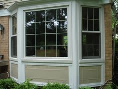 Awesome Bay Window Design Ideas Exterior has a variation photo that related to windows curtains. Find out the latest photos of bay window design ideas… Tinted House Windows, Windows And Doors, Bay Windows, Bay Window Design, Vinyl Siding Installation, Window Shutters Exterior, Window Styles, Exterior Design, Exterior Trim
