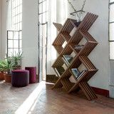 http://www.luxehomephiladelphia.com/collections/modern-furniture-store-new-arrivals/products/arpa-bookcase-tonin-casa Crafted in Italy, the Arpa Bookcase by Tonin Casa boasts a variety of forms and dimensions that create sculptural drama in any space. Made of solid wood painted in a rich Canaletto Walnut finish, the Arpa Bookcase by Tonin Casa will keep your home neatly organized and stylishly chic!