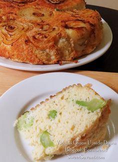 Vidalia Onion Upside Down Broccoli Cornbread | Sweet Savant