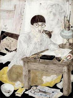 Self Portrait  Tsuguharu Foujita  .