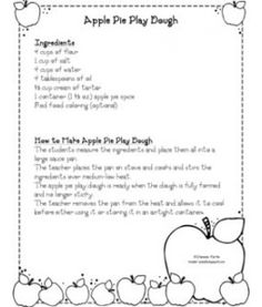 Apple Pie Playdoh Recipe