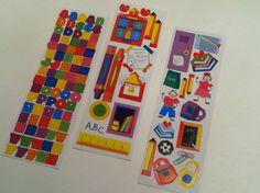School Themed Detash Stickers  3 small by IdleHandsYarnSupply, $2.25