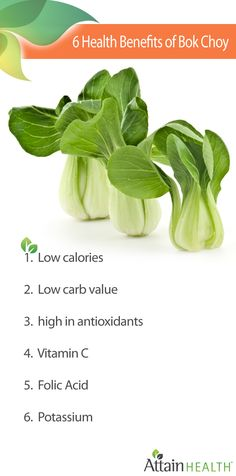 Bok Choy is full of healthy benefits!  #Eat #Natural #healthy #Food www.attainhealth.com