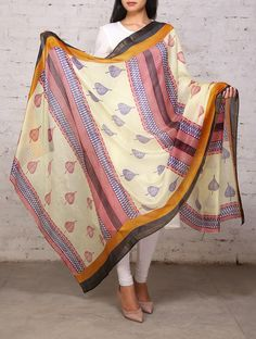 Yellow Organic Silk Dupatta