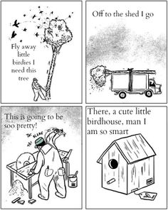 #savethetrees the birds like them better than birdhouses made from trees