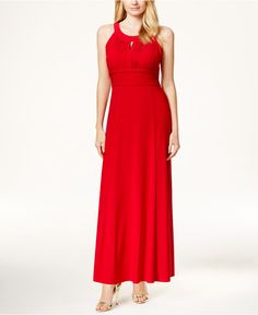 Style&co. Ruched Keyhole Halter Gown, Only at Macy's - Dresses - Women - Macy's