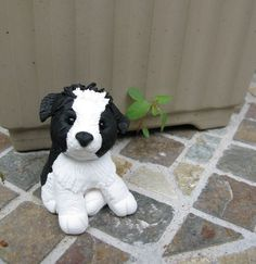 polymer clay border collie - Google Search