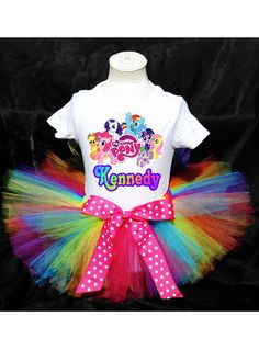 My Little Pony Birthday Outfit Costume by PrettyAsAPrincess2, $27.99
