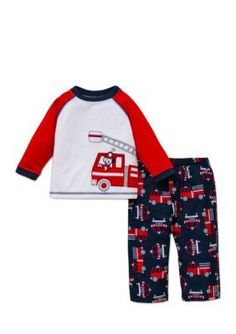 Little Me  2-Piece Fire Truck Pajama Set