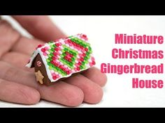 Polymer Clay Christmas Tutorial, Miniature Gingerbread House - YouTube