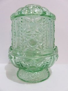 Vintage Fairy Lamp Candle Holder Indiana Glass Stars & Bars Coke Bottle…