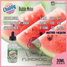 Chubby Bubble Vapes (Bubble Melon) - вкус из детства! Жвачка с арбузом