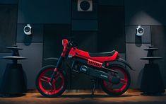 Download wallpapers FANTIC Sprinter, 1984 bikes, superbikes, bobber, Italian motorcycles