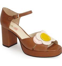 CLARKS ORLA KIELY BETTY Combi Patent Leather Platform Sandal Shoes Tan SIZE 9.5 | Clothing, Shoes & Accessories, Women's Shoes, Heels | eBay!