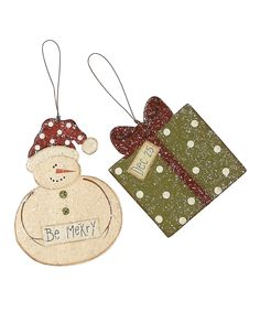 Do ---  Take a look at this Be Merry Ornament Set on zulily today!