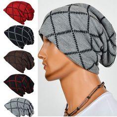 466bc3f4e7e Unisex Women Men Knit Winter Warm Ski Crochet Slouch Hat Cap Oversized  Beanie