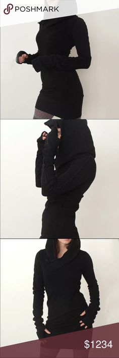 29476b61042f 🔜Black Jumper Top/Tunic Stellar cotton hoodie tunic! 100% best seller!