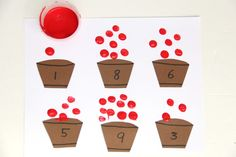 Kids will love this apple fingerprint math activity that is perfect for building fine motor skills.