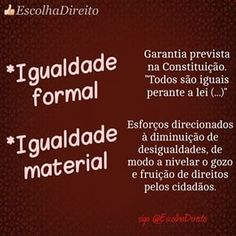 igualdade formal + igualdade material - Pesquisa Google