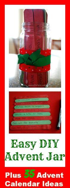 Easy DIY Advent Jar and 35 Advent Calendar Ideas
