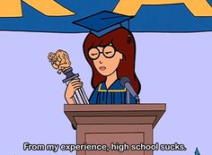 Daria is our spirit animal. Plus, she summed up everything we ever thought about life. Daria Morgendorffer, Jane Lane, Daria Quotes, Daria Memes, Film Quotes, Daria Mtv, Trauma, Cartoon Quotes, Cartoon Art