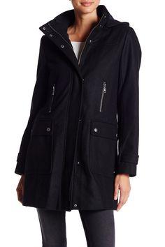 Hooded Longline Coat by Tommy Hilfiger on @nordstrom_rack