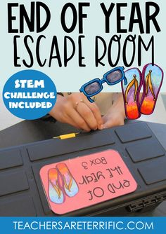 If you are looking for an Escape Room experience for your elementary students to end their school year, this will be perfect! This breakout includes a scavenger hunt, a maze, and a secret code. As tasks are completed students find a code to open a locked box. Yes, a STEM Challenge is included! End Of Year Activities, Team Building Activities, Stem Activities, Summer Words, Riddles To Solve, End Of School Year, Secret Code, Stem Challenges, Stem Projects