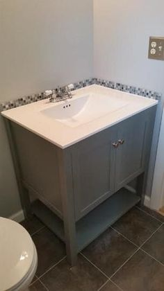 Down Stairs Bathroom Home Decorators Collection Cranbury 30 In Vanity In Cool Gray With Vitreous
