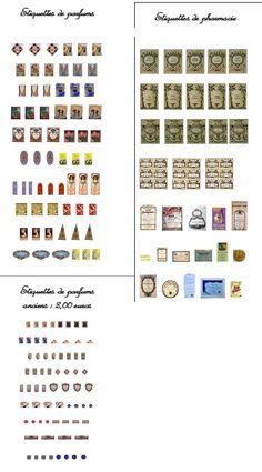 Etiquettes anciennes de pharmacie et parfums Vintage labels perfumes and apothecary
