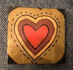 Autumn hearts. (09/2021) Kindness Rocks, Paint Pens, Painted Rocks, Concept, Rock Painting, Artist, Hearts, Gifts, Autumn
