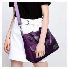 e3366aed56fc Women Nylon Waterproof Large Capacity Handbag Shoulder Bag Crossbody Bags
