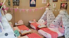 Over the Rainbow Sleepover theme Sleepover Party, Slumber Parties, Teepee Party, Teenage Dream, Over The Rainbow, Glamping, Party Planning, Little Ones, Toddler Bed