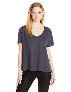 Michael Stars Women's Supima Cotton Slub Short Sleeve V Neck from $21.99 by Amazon BESTSELLERS