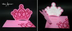 Convite Coroa :: Tema Princesas